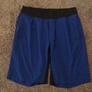 Lululemon men's blue workout shorts